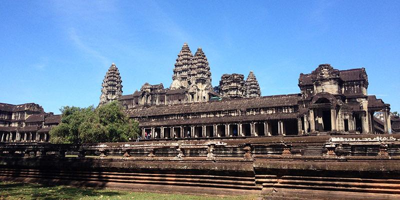 Ангкор Ват, вид с Юга